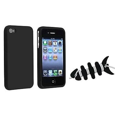 Insten 2 Piece iPhone Headset Smart Wrap Bundle For Apple iPhone 4/4S (1065139)