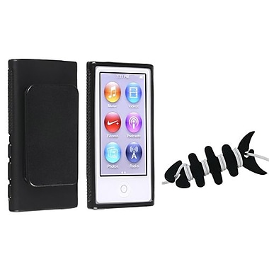 Insten 2 Piece MP3 Headset Smart Wrap Bundle For Apple iPod Nano 7th Gen (1067393)