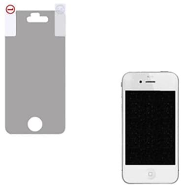 Insten Glitter LCD Screen Protector For iPhone 4, Silver (1071216)