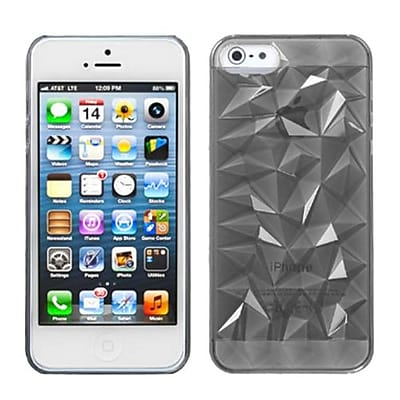 Insten® Diamond Pattern Back Protector Cover F/iPhone 5/5S; T-Smoke