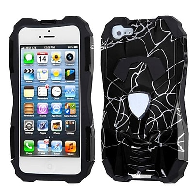 Insten® Car Pattern Hybrid Protector Cover F/iPhone 5/5S, d Lines Black/Black