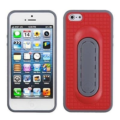 Insten® Protector Cover W/Snap Tail Stand F/iPhone 5/5S, Red