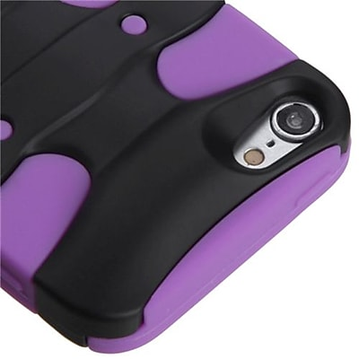 Insten® 3D Fishbone Hybrid Cover For iPod Touch 5th Gen, Black/Electric Purple