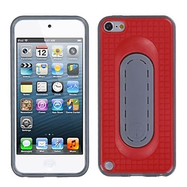 Insten® Snap Tail Stand Protector Cover For iPod Touch 5th Gen, Red
