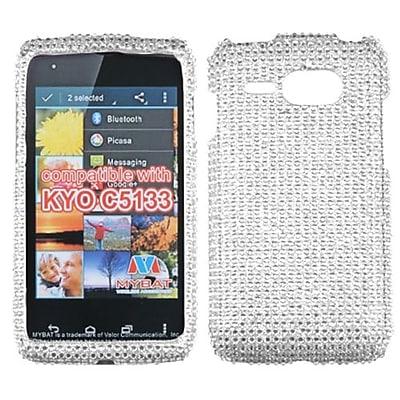 Insten® Diamante Phone Protector For Kyocera C5133, Silver