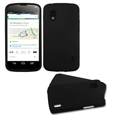 Insten® Hybrid Cover Case For LG Nexus 4 E960, Black Fusion