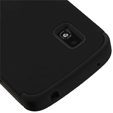 Insten® TUFF Hybrid Phone Protector Case For LG E960 Nexus 4, Black