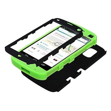 Insten® TUFF Hybrid Phone Protector Case For LG E960 Nexus 4, Black/Electric Green