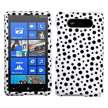 Insten Phone Cover Case For Nokia Lumia 820, Black Mixed Polka Dots (1071567)