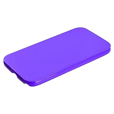 Insten TPU Plastic Folio Style Phone Protector Cover For Samsung Galaxy Note II, Purple 1406278