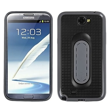 Insten® Stand Protector Cover For Samsung Galaxy Note II (T889/I605), Black Snap Tail