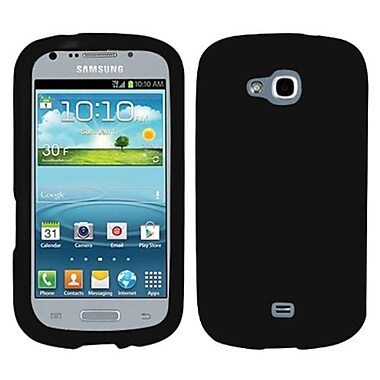Insten® Solid Skin Cover For Samsung R830 Galaxy Axiom, Black