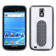 Insten® Stand Protector Cover For Samsung T989 Galaxy S2, White Snap Tail