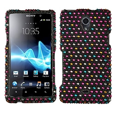 Insten® Diamante Protector Cover For Sony TL30AT, Sprinkle Dots