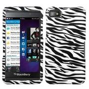Insten® Rubber Phone Protector Case For BlackBerry Z10, Zebra Skin