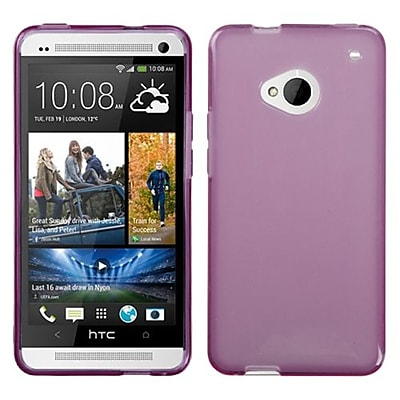 Insten® Candy Skin Cover For HTC-One/M7; Transparent Purple
