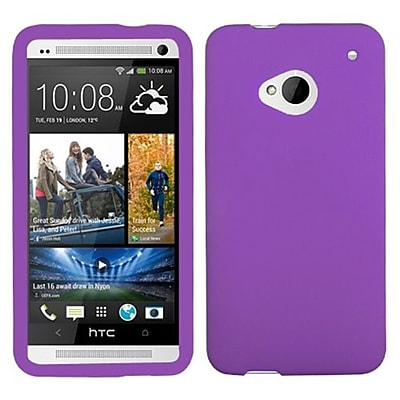 Insten® Skin Cover For HTC-One; Solid Electric Purple