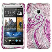 Insten® Diamante Protector Cover For HTC-One; Phoenix Tail
