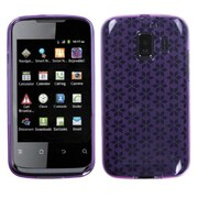 Insten® Candy Skin Cover For Huawei U8665 Fusion 2; Purple Hexagon