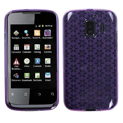 Insten® Candy Skin Cover For Huawei U8665 Fusion 2, Purple Hexagon