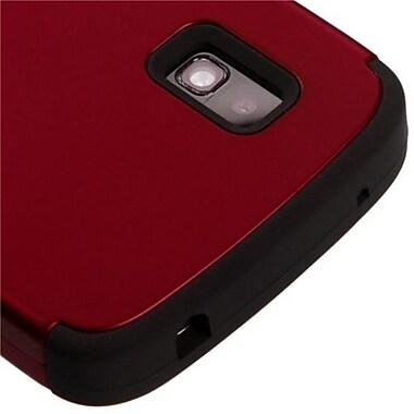 Insten® TUFF Hybrid Phone Protector Case For LG E960 Nexus 4, Titanium Red/Black