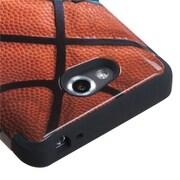 Insten® TUFF Hybrid Phone Protector Cover For LG MS870 Spirit 4G, Black Basketball