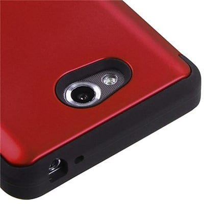 Insten® TUFF Hybrid Phone Protector Cover For LG MS870 Spirit 4G; Titanium Red/Black