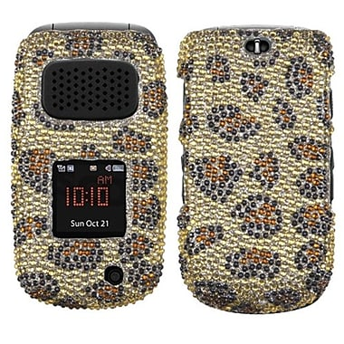 Insten® Diamante Protector Cover For Samsung A997 (RUGBY III), Leopard Skin/Camel