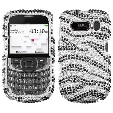 Insten® Diamante Protector Cover For ZTE F555 Aspect, Black Zebra