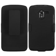 Insten® Hybrid Holster Case For ZTE-N9120 Avid 4G, Black