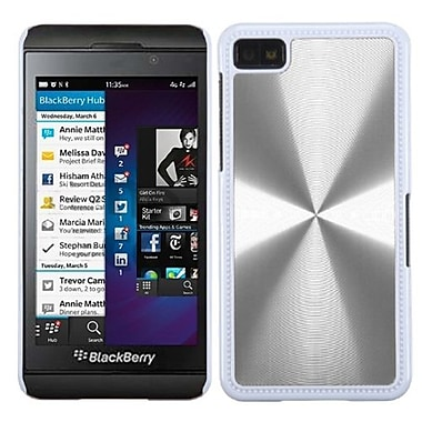 Insten® Back Protector Cover For BlackBerry Z10, Silver Cosmo