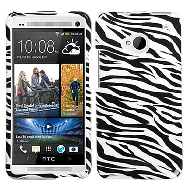 Insten® Protector Cover For HTC-One/M7, Zebra