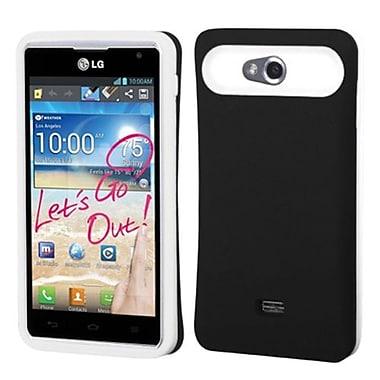 Insten® Back Protector Cover For LG MS870 Spirit 4G, Black/White