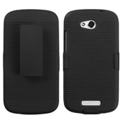 Insten® Hybrid Holster For HTC-One VX, Black