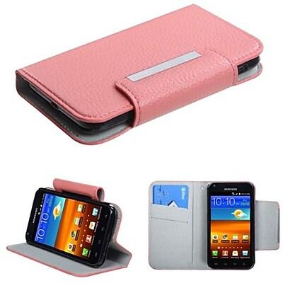 Insten® Premium Book-Style MyJacket Wallet For Samsung D710; R760, Galaxy S II 4G, Pink
