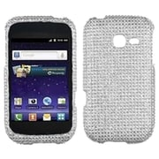 Insten® Diamante Protector Cover For Samsung R480 Freeform 5, Silver
