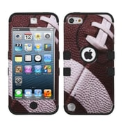 Insten® TUFF Hybrid Protector Cover F/iPod Touch 5th Gen, Black Football