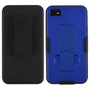 Insten® Hybrid Holster With Stand For BlackBerry Z10, Black/Dark Blue