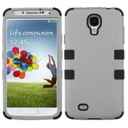 Insten® Rubberized TUFF Hybrid Phone Protector Case For Samsung Galaxy S4, Gray/Black