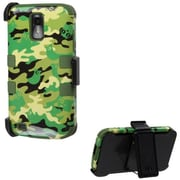 Insten® Hybrid Phone Protector Cover For Samsung T989 Galaxy S2, Army Green/Green Woodland Camo