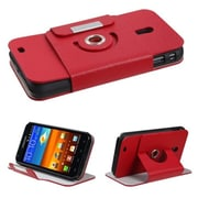 Insten® Premium Rotatable MyJacket Wallet For Samsung D710; R760, Galaxy S II 4G, Red