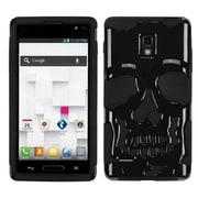 Insten® Hybrid Protector Cover For LG P769; Solid Black/Black Skullcap
