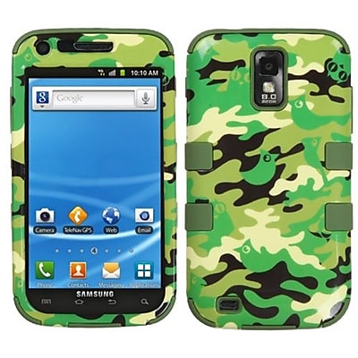 Insten® Hybrid Phone Protector Cover For Samsung T989 Galaxy S2; Green Woodland Camo/Army Green