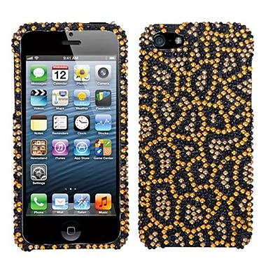 Insten® Diamante Phone Protector Cover F/iPhone 5/5S, Jeweled Jaguar