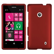 Insten® Phone Protector Cover For Nokia 521, Titanium Solid Red