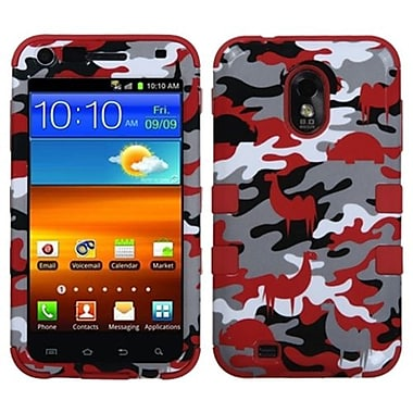 Insten® Hybrid Phone Protector Cover For Samsung Galaxy S II 4G/R760/D710, Red Desert Camo/Red