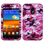 Insten® Hybrid Phone Protector Cover For Samsung Galaxy S II 4G/R760/D710, Pink Flower Camo/Hot-Pink