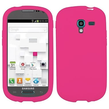Insten® Solid Skin Cover For Samsung T599 Galaxy Exhibit, Hot-Pink