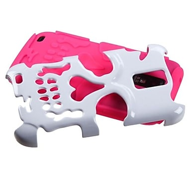 Insten® Hybrid Protector Case For Samsung T989 Galaxy S2, Ivory White/Electric Pink Skullcap