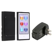 Insten® 1303111 2-Piece MP3 Travel Charger Bundle For Apple iPod Nano 7th Gen
